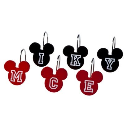 12 Mickey Mouse Shower Curtain Hooks By Disney