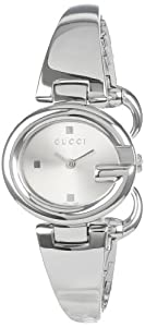 Gucci Women's YA134502 Guccissima Fashion Bangle Silver Dial Watch