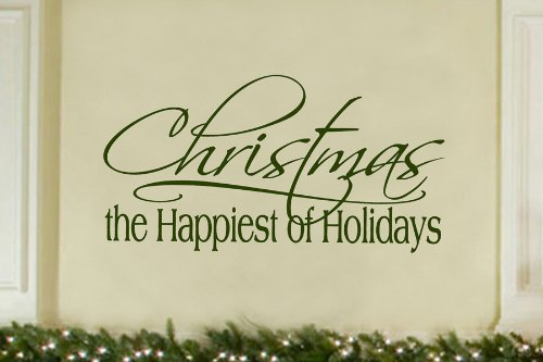 Christmas the happiest vinyl wall lettering words