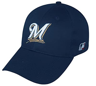 Milwaukee Brewers ADULT Adjustable Hat MLB Officially Licensed Major League Baseball Replica Ball Cap