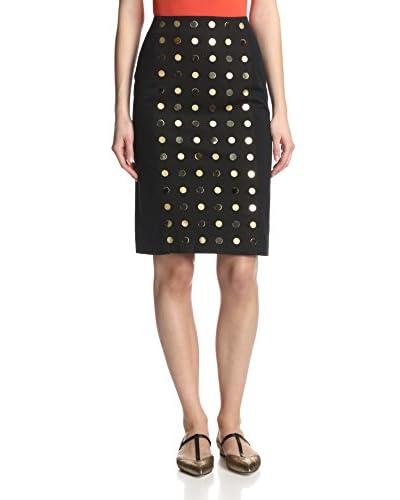 Kate Spade Saturday Women's Gold Dot Pencil Skirt