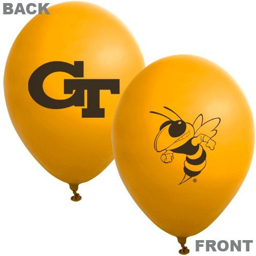 "NCAA Georgia Tech Yellow Jackets Gold 10-Pack 11"" Latex Balloons - 1"