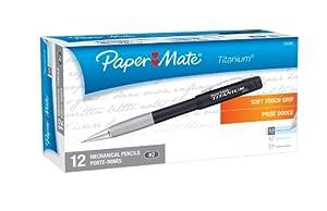 Paper Mate Titanium 0.5mm Mechanical Pencils, Black Barrel, 12 Pencils (98808)