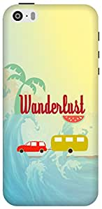 The Racoon Lean Wonderful Wanderlust hard plastic printed back case/cover for Apple Iphone 5/5s