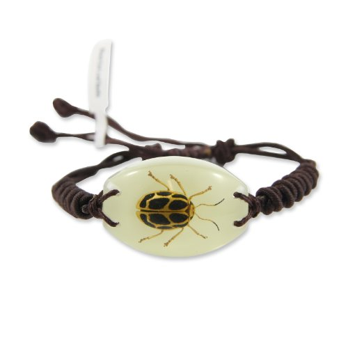 REALBUG Black Dot Leaf Beetle Glow in The Dark Bracelet