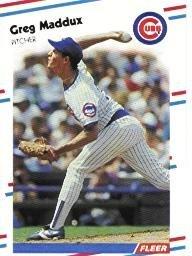 1988 Fleer Greg Maddux Baseball Card #423 - Shipped In Protective Display Case!