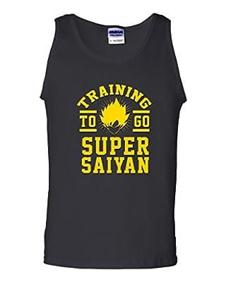 Training To Go Super Saiyan Anime Funny Parody DT Adult Tank Top