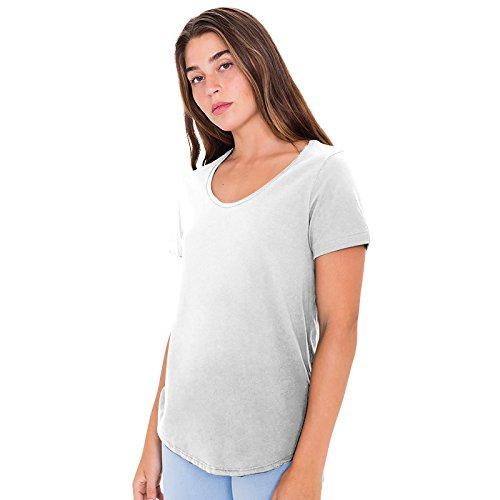 American Apparel - Maglietta maniche corte - Donna (XL) (Bianco)