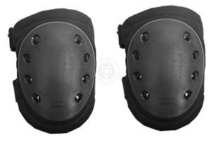 AMA Outdoor Tactical Knee Pads - Nonslip Rubber Cap - BLACK