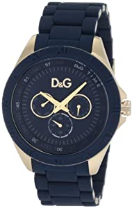 D&G Dolce & Gabbana Men's DW0779 Chamonix Yellow Gold Blue Dial Blue Bracelet Watch
