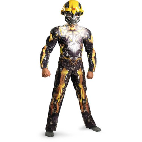 Transformers Kids Costume (GLOWS IN THE DARK) size 4+ BUMBLEBEE