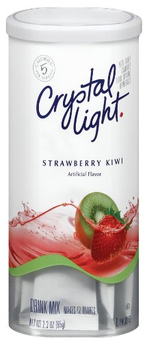 Crystal Light Tropical Strawberry Kiwi Drink Mix (12-Quart), 2.3-Ounce Canisters (Pack of 4)
