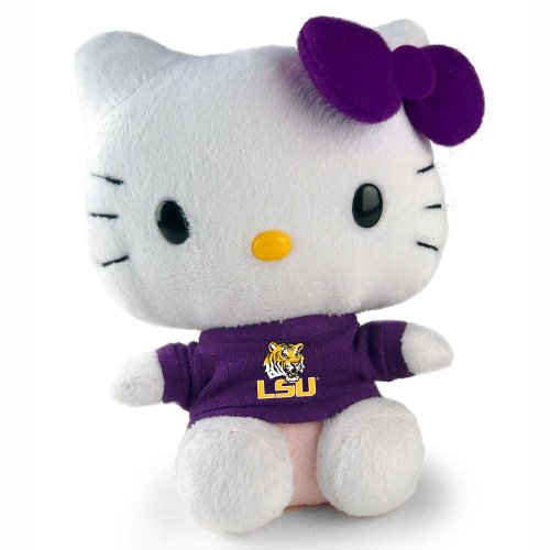 "Hello Kitty 6"" LSU Tigers Collegiate Collectible Plush Toy"
