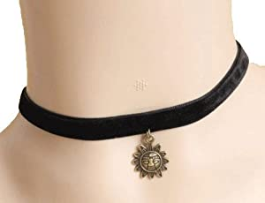 "Jewelry 4 Lady New Arrival!! Black Velvet Choker Necklace Retro & Gothic Style Costume Jewelry Adjustable(approx 12""-14"")"