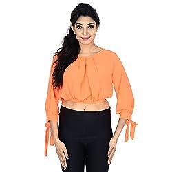 Danzon Women's Top (SLS90045_Neon Orange_Small)