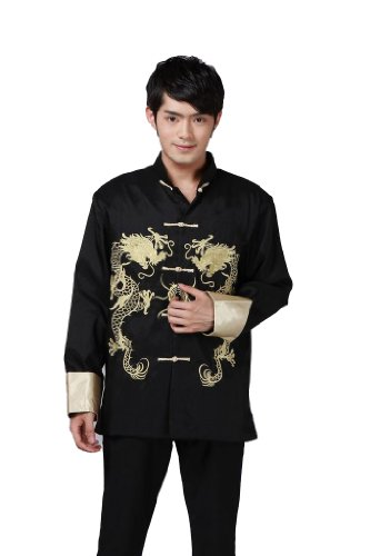 JTC Men Kung Fu Top Tai Chi Shirt China Traditional Clothing Sport Plus Size