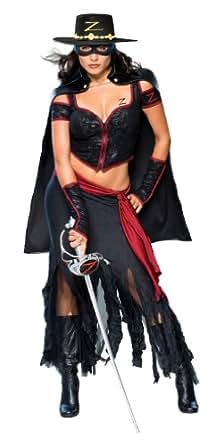 Secret Wishes Women's Zorro, Lady Zorro Adult Costume, Multicolor, X-Small