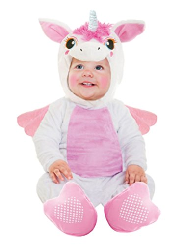 Goodmark Infant Girls Unicorn Costume Plush White Jumper with Wings