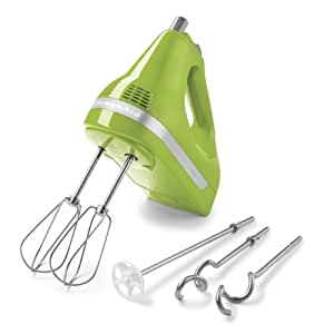 KitchenAid KHM512GA 5-Speed Hand Mixer, Green Apple