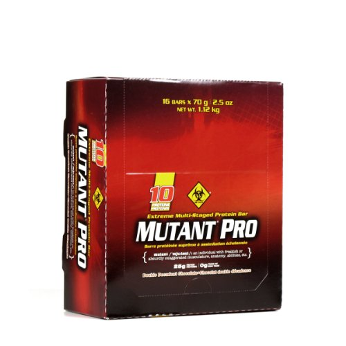 PVL Mutant Pro 70 g Double Chocolate Whey Protein Snack Bars - Box of 16