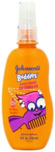Johnson's Buddies No More Tangles Easy-Comb Spray, 8 Ounce (Pack of 2)