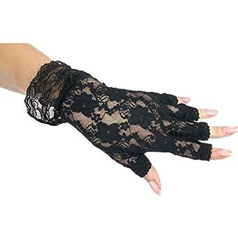 Fun World Black Fingerless Lace Glove