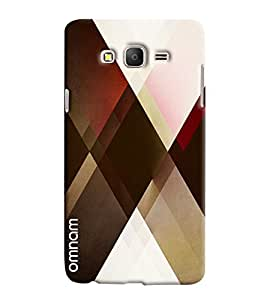Omnam Check Pattern Printed Designer Back Cover Case For Samsung Galaxy On 5