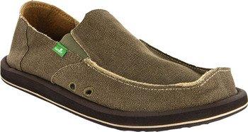 Sanuk Men's Vagabond Slip-On Loafer, Brown, 10 M US