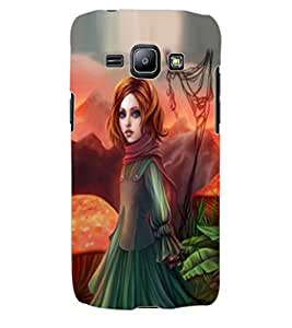ColourCraft Beautiful Girl Design Back Case Cover for SAMSUNG GALAXY J1