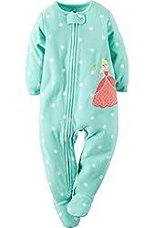Carter's Baby-girls' 1 Pc Fleece Footed Blanket Sleeper Pajamas
