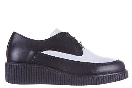 Armani Jeans scarpe stringate classiche donna in pelle derby bicolor nero EU 37 C5770 74 DB