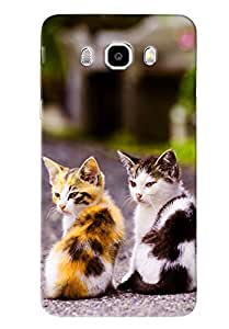 Clarks Two Cats Hard Plastic Printed Back Cover/Case For Samsung Galaxy J5 2016