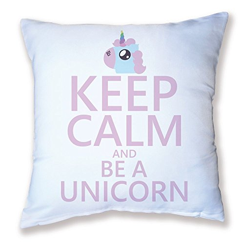 Coussin-Dcoration-Keep-calm-and-be-a-unicorn-Licorne-chibi-et-kawaii-Fabriqu-en-France-Licence-officelle-Chamalow-Shop