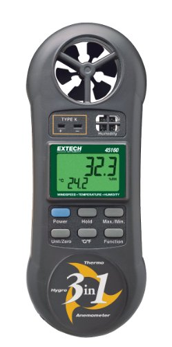 Extech 45160 3-in-1 Humidity, Temperature and Airflow Meter - 1