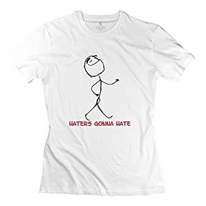 Printing Haters Gonna Hate Witty Round Neck Woman T Shirts