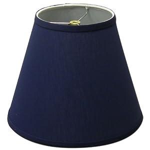 Lamp Shade 6x11x9 Navy Blue Linen Fabric Lampshades
