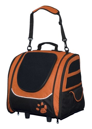 Pet Gear I-GO2 Traveler Roller Backpack for cats and dogs up to 20-pounds, Copper