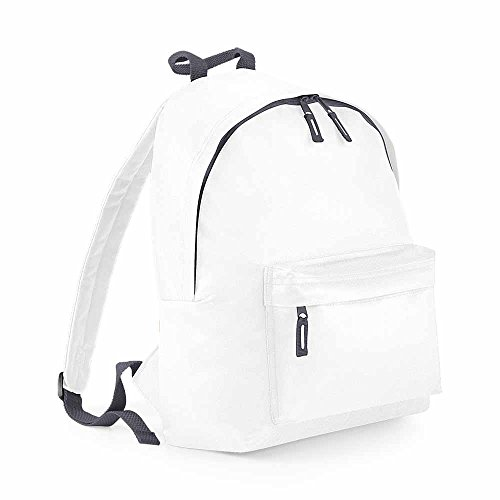base Leisure Bag Backpack Rucksack School-Bag - 18L BG125 White-Unisex for Men and Women