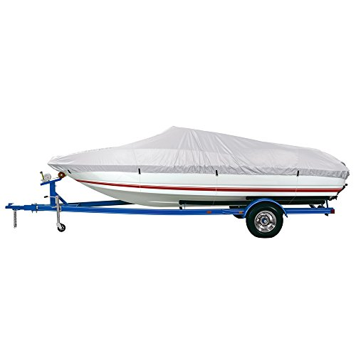 """The Amazing Quality Dallas Manufacturing Co. Reflective Polyester Boat Cover Aa - Fits 12'-14' V-Hull Fishing Boats - Beam Width To 68"""""""