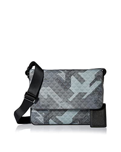 Emporio Armani Allover Camouflage Messenger, Grey