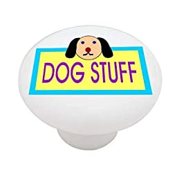 Dog Stuff High Gloss Ceramic Drawer Knob