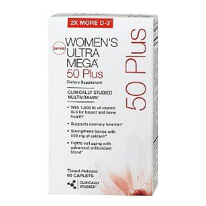 Gnc Women'S Ultra Mega 50 Plus Multivitamins 60 Caplets