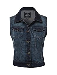 FPT Womens Cropped Denim Vest (S-3XL)
