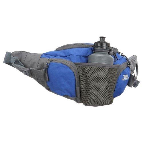 Trespass VASP Hiking Hip Waist Pack Bum Bag with Hydration Bottle 5 Litre Blue
