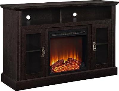 """Altra Chicago 50"""" Fireplace TV Console, Espresso"""