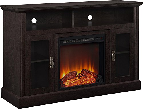 "Altra Chicago 50"" Fireplace TV Calm, Espresso"