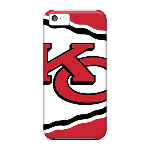 Viennoisjewelry Scratch-Free Phone Case For Iphone 5C- Retail Packaging - Kansas City Chiefs