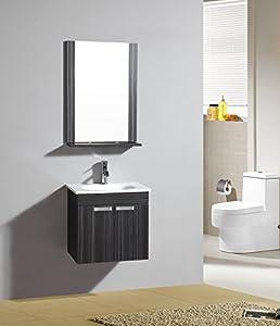 Ensemble meuble de salle de bain Lazio Wengé - M-70107/1192 - Mirroir - meuble sous vasque - vasque