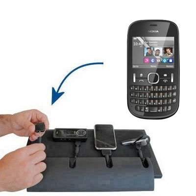 Gomadic Advanced Nokia Asha 201 4-port Charging Station - Uses TipExchange Technology to charge up to four devices simultaneously