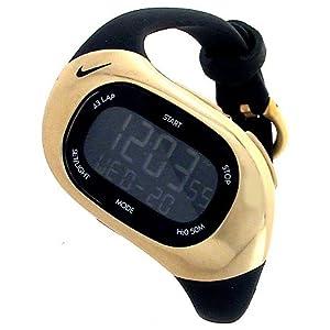 new nike s triax chronograph black gold running